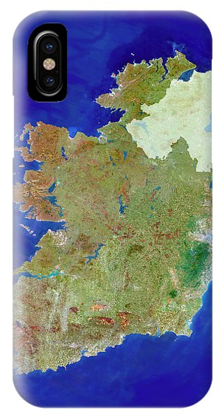 Northern Scotland iPhone Case - Republic Of Ireland by Planetobserver/science Photo Library