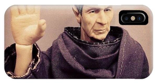 Science Fiction iPhone Case - Rest In Peace, #spock... You'll Be by James Bare
