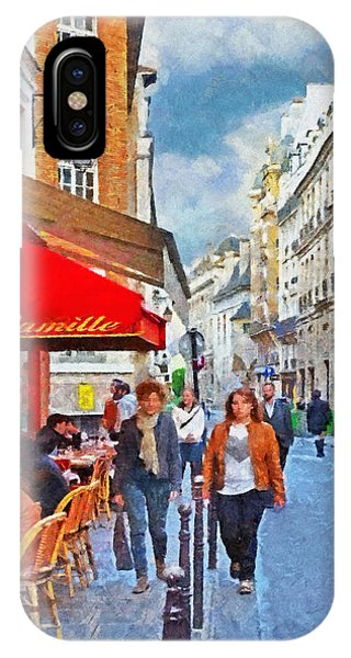 Restaurant Camille In The Marais District Of Paris IPhone Case