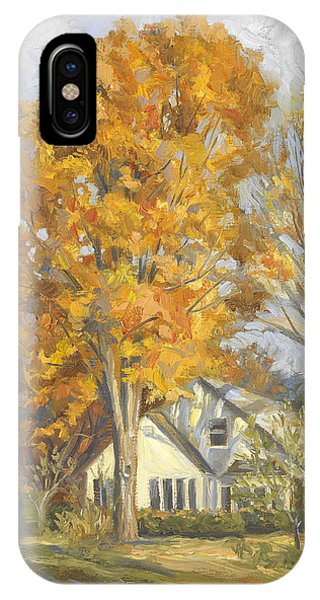 England iPhone Case - Restful Autumn by Lucie Bilodeau