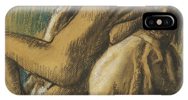 Impressionistic iPhone Case - Resting After The  Bath by Edgar Degas