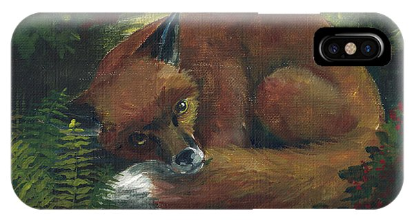 Resting Red Fox IPhone Case