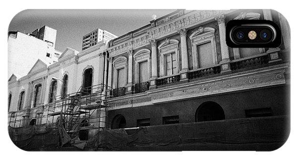 restoration of old colonial buildings damaged by earthquake compania de jesus Santiago Chile Phone Case by Joe Fox