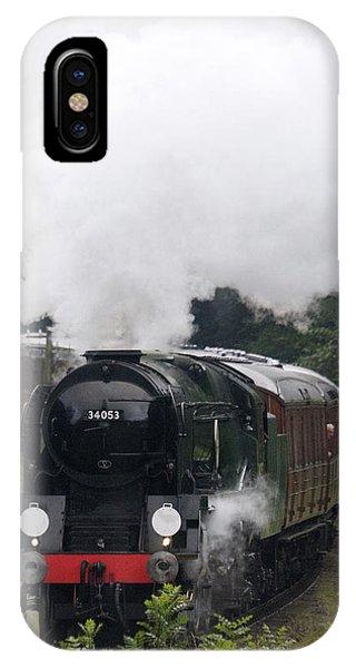 Restored Steam Engine 34053 IPhone Case