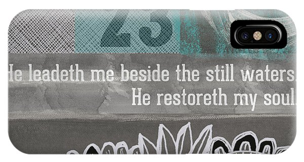 Prayer iPhone Case - Restoreth My Soul- Contemporary Christian Art by Linda Woods