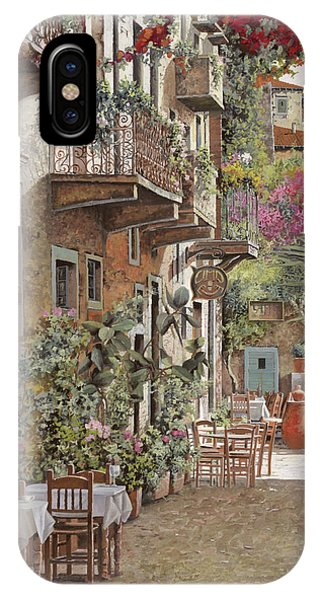 Dinner iPhone Case - Rethimnon-crete-greece by Guido Borelli