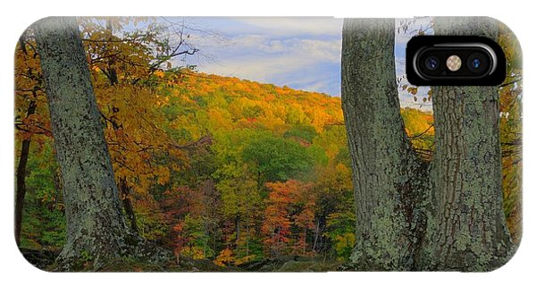 Catoctin Mountain Park iPhone Case - Retreating Daylight Cunningham Falls State Park Md - Wm Houck Area Autumn by Michael Mazaika