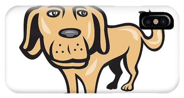Retriever Dog Big Head Isolated Cartoon IPhone Case