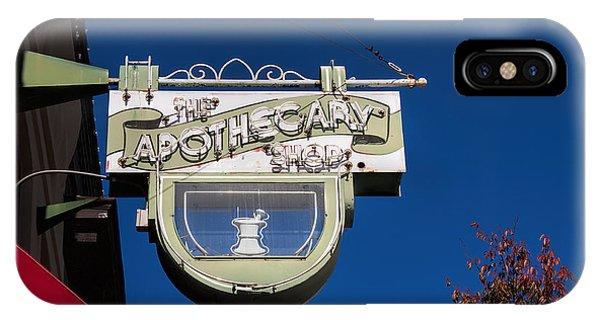 retro Apothecary shop sign IPhone Case