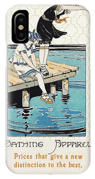 Dive iPhone Case - Retro Bathing Apparel Sign by Jean Plout