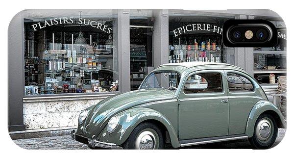Volkswagen iPhone Case - Retro Beetle by Olivier Le Queinec