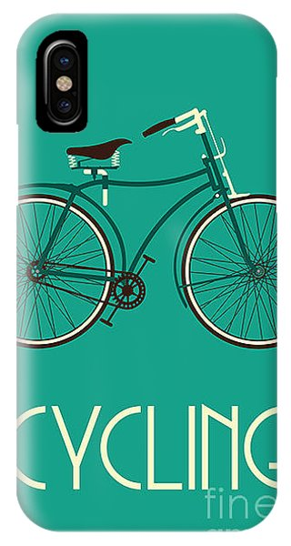 Cycling iPhone Case - Retro Bike Poster by Negovura