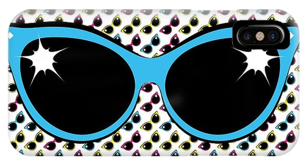 Retro Blue Cat Sunglasses IPhone Case