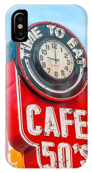 Retro Cafe IPhone Case