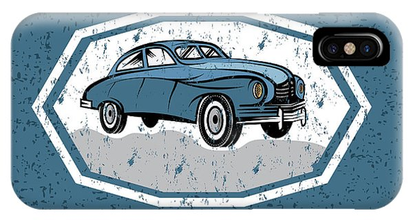 Chrome iPhone Case - Retro Car Old Vintage Grunge Poster by Uvaconcept