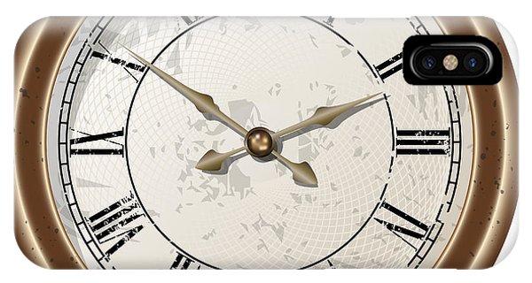 Retro Clock Phone Case by Volodymyr Horbovyy