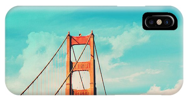 San Francisco iPhone Case - Retro Golden Gate - San Francisco by Melanie Alexandra Price