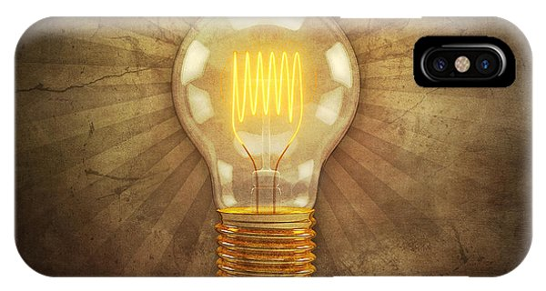 Rendering iPhone Case - Retro Light Bulb by Scott Norris