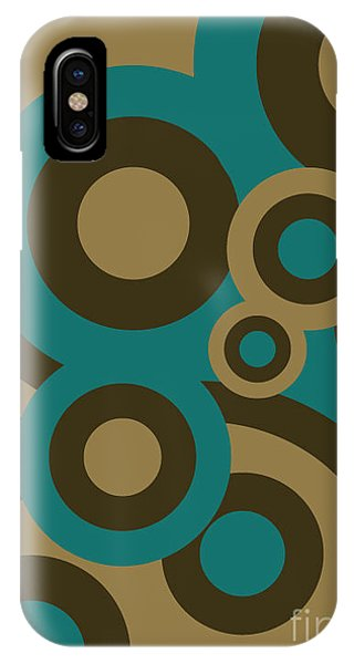 Funky iPhone Case - Retro Line Background by Isaac Marzioli