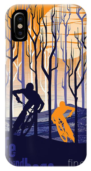 Urban iPhone Case - Retro Mountain Bike Poster Life Behind Bars by Sassan Filsoof
