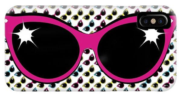 Retro Pink Cat Sunglasses IPhone Case