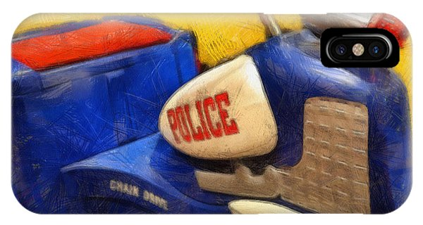 Retro Police Tricycle IPhone Case