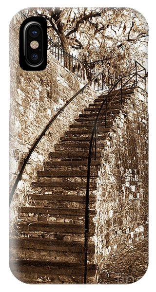Retro Stairs In Savannah IPhone Case