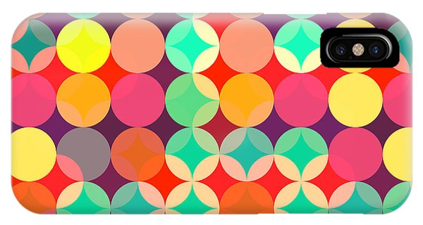 Cover iPhone Case - Retro Style Abstract Colorful Background by Hakki Arslan
