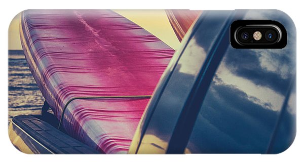Surf iPhone Case - Retro Surf Boards In Truck by Mr Doomits