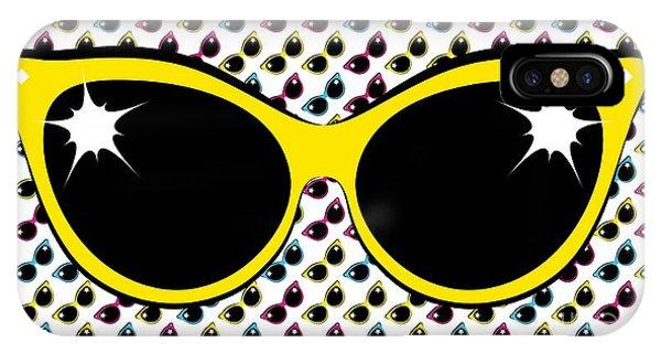 Retro Yellow Cat Sunglasses IPhone Case