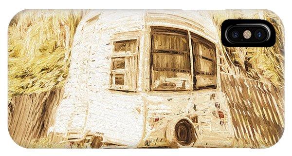 Caravan iPhone Case - Retrod The Comic Caravan by Jorgo Photography - Wall Art Gallery