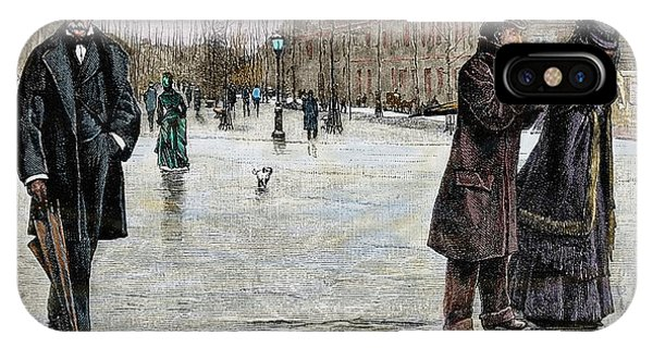 1877 iPhone Case - Returning From A Funeral by Prisma Archivo