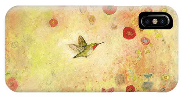 Hummingbird iPhone Case - Returning To Fairyland by Jennifer Lommers