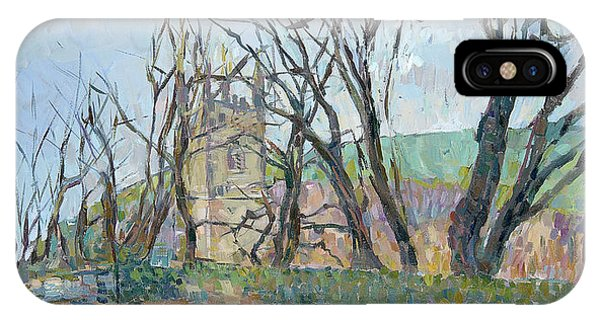 English Village iPhone Case - Reverend Hawkers Church At Morwenstow II Oil On Canvas by Erin Townsend