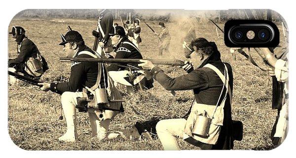 iPhone Case - Revolutionary War Battle by George Fredericks