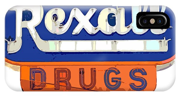 Neon iPhone Case - Rexall Drugs by David Lloyd Glover
