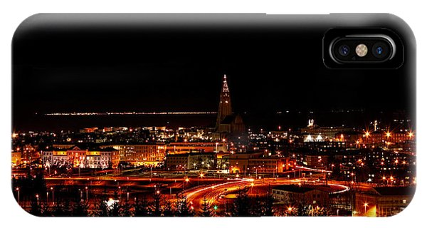 IPhone Case featuring the photograph Reykjavik Nightlife by Kristia Adams