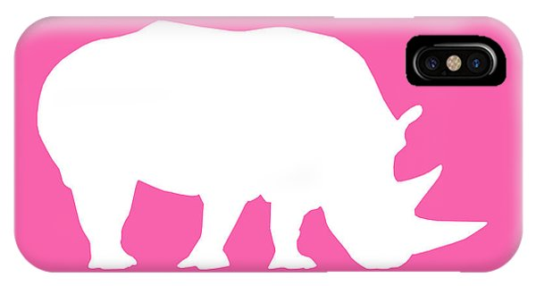 Rhino In Pink And White IPhone Case