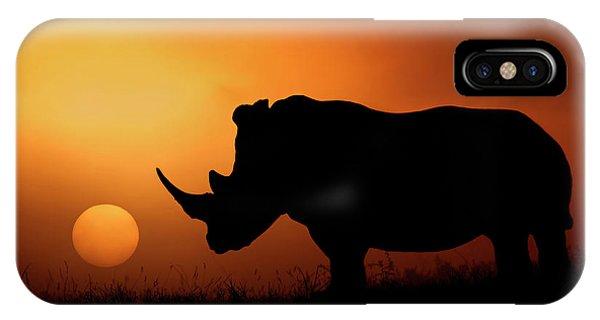 Rhino Sunrise IPhone Case