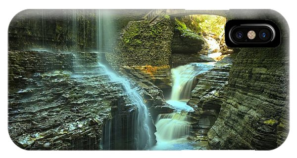Rainbow Falls Watkins Glen IPhone Case