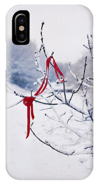 Left iPhone Case - Ribbon In Tree by Amanda Elwell