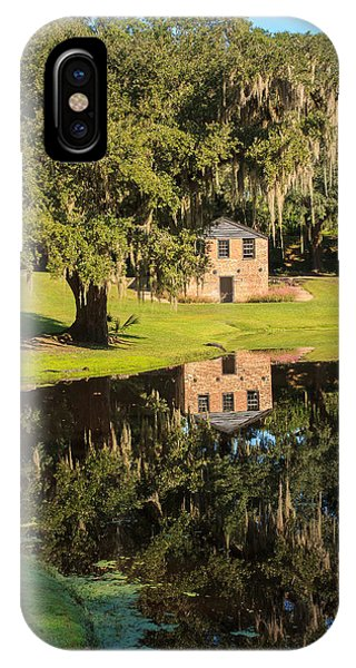 Rice Mill  Pond Reflection IPhone Case