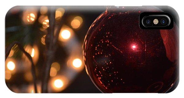 Rich Garnet Christmas Bulb IPhone Case