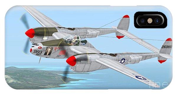 Richard Bong's P-38 Lightning Marge IPhone Case