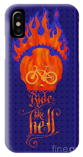 Calligraphy iPhone Case - Ride Like Hell by Sassan Filsoof