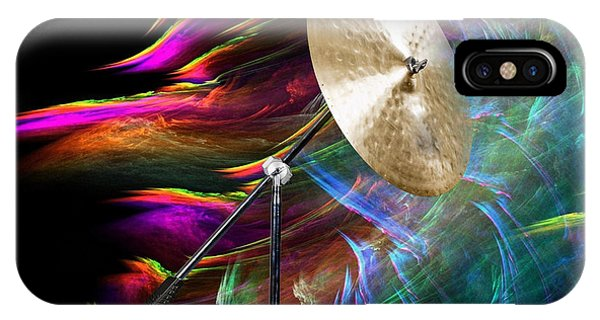 Ride Or Suspended Cymbal In Color 3241.02 IPhone Case