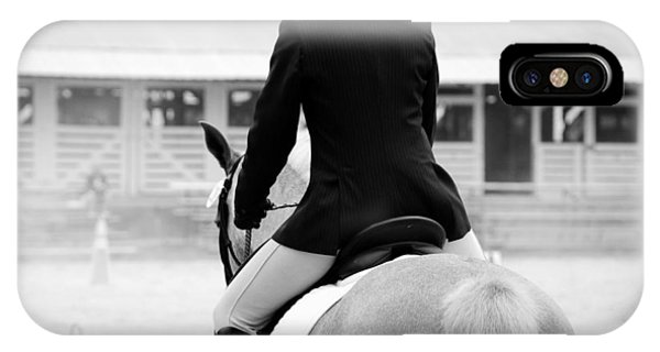 Rider In Black And White IPhone Case