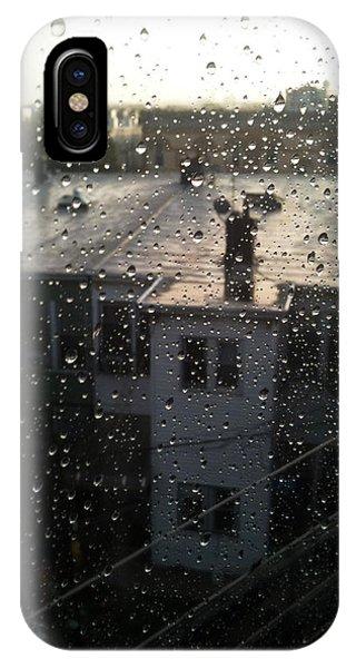Ridgewood Houses Wet With Rain IPhone Case