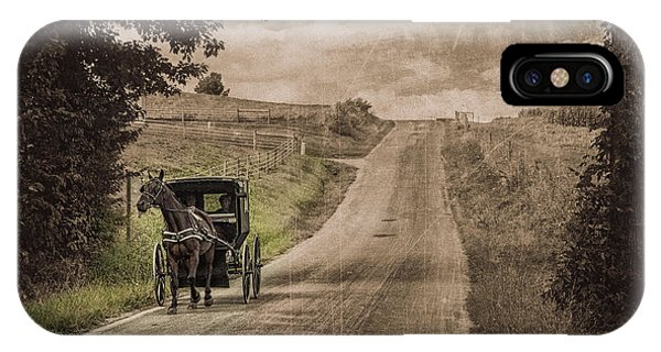 Berlin iPhone Case - Riding Down A Country Road by Tom Mc Nemar