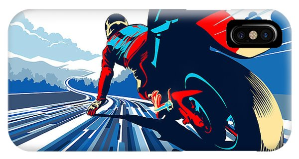 Motorcycle iPhone Case - Riding On The Edge by Sassan Filsoof